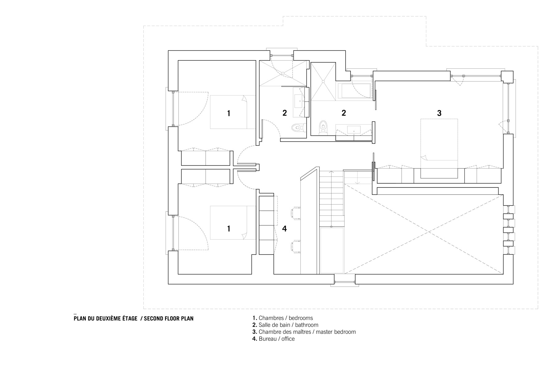 Courcelette residence Plan etage