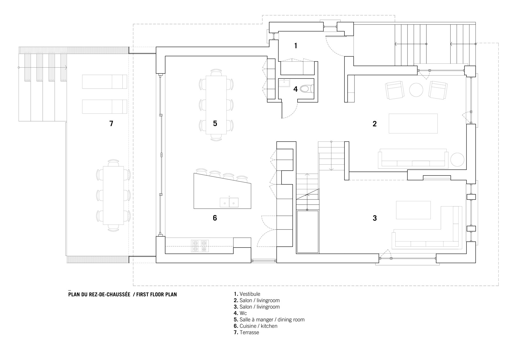 Courcelette residence Plan RDC