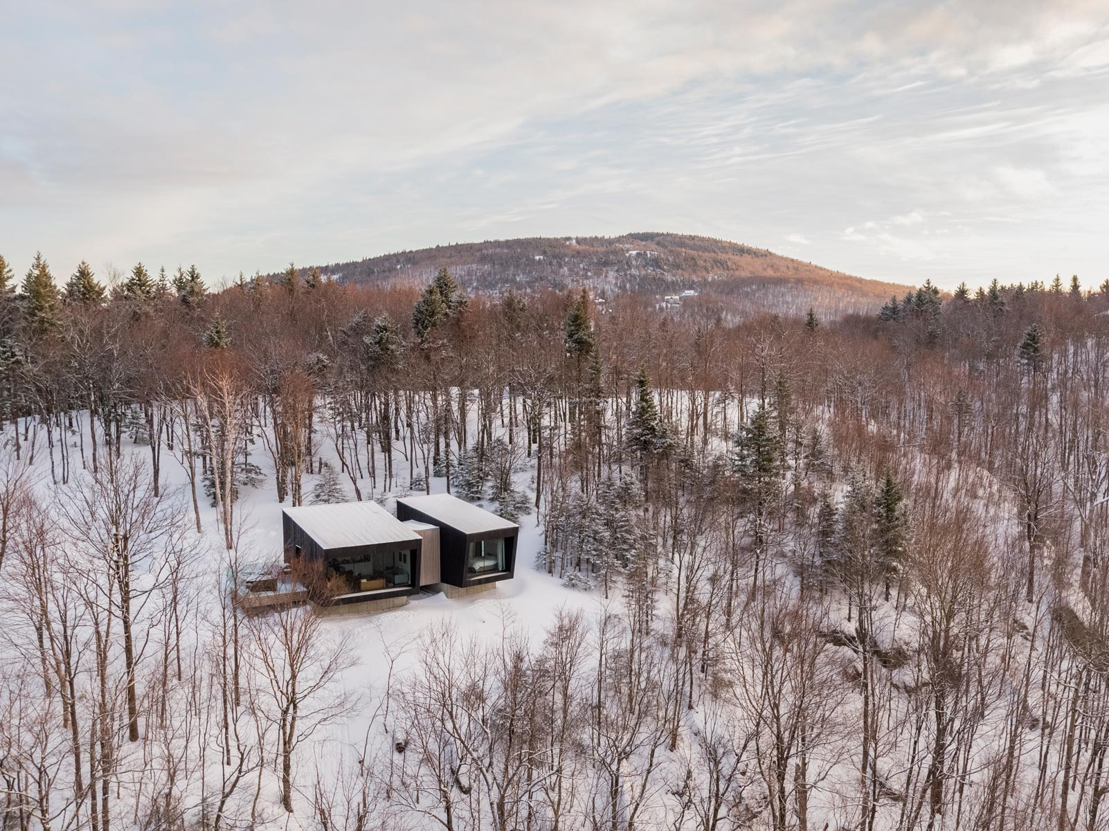 La Binocle chalet cabin naturehumaine architecture