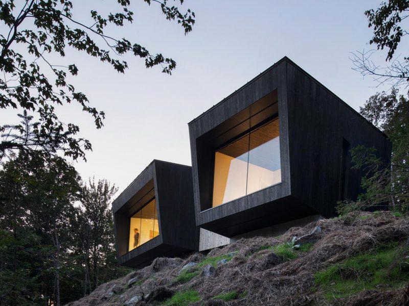 chalet cabin la binocle naturehumaine architecture
