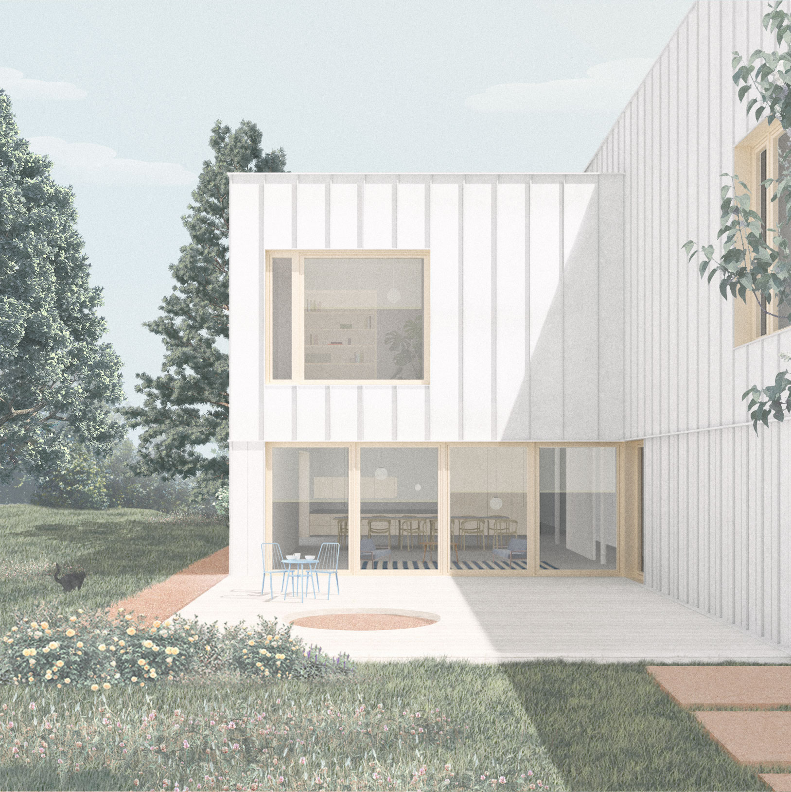 ENE _ back facade
