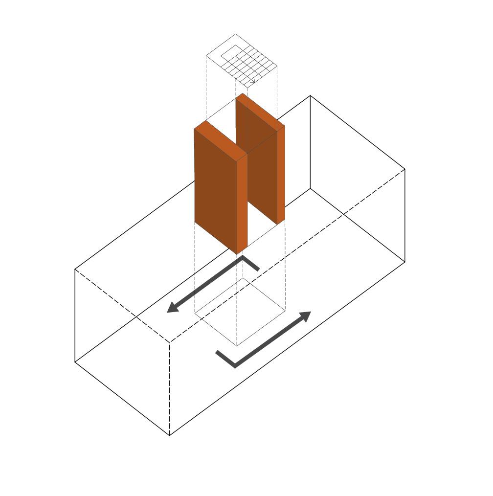 Olivier Nelson residence – axonometrie