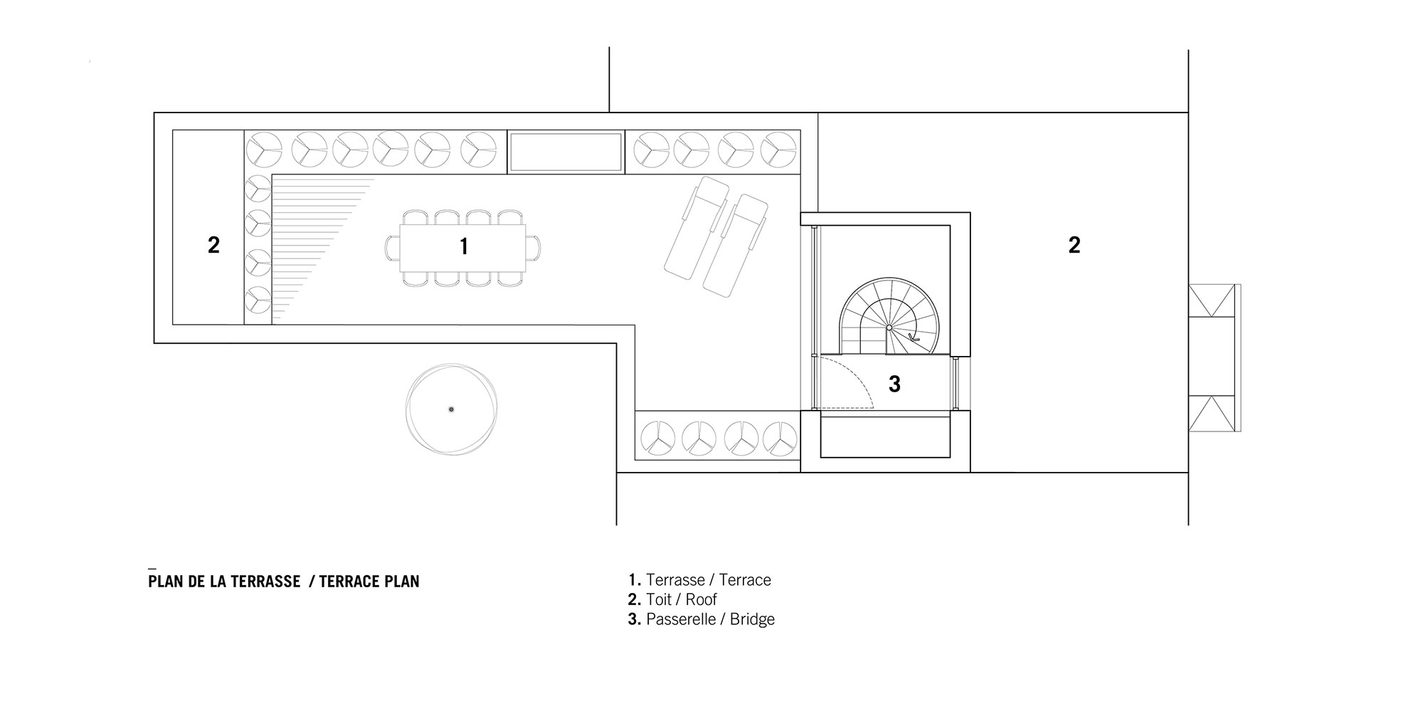 La Doyenne plan terrasse